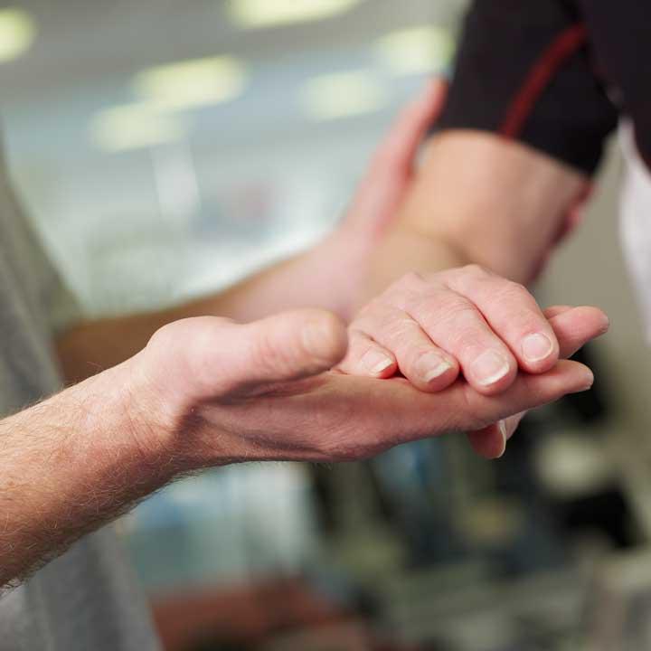 Hand-Polstherapie
